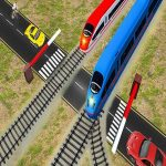Euro Railroad Crossing : Railway Train Passing 3D